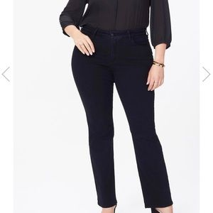 NEW NYDJ Barbara Bootcut Black Jeans